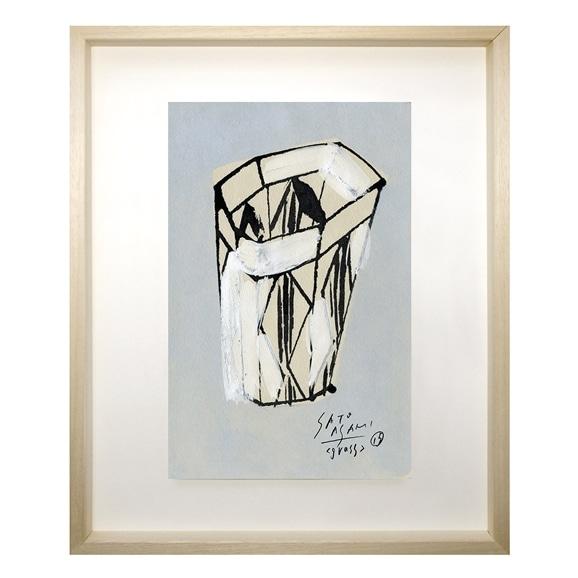 【写真】サトウ アサミ 「面にひし形の模様のあるグラス」