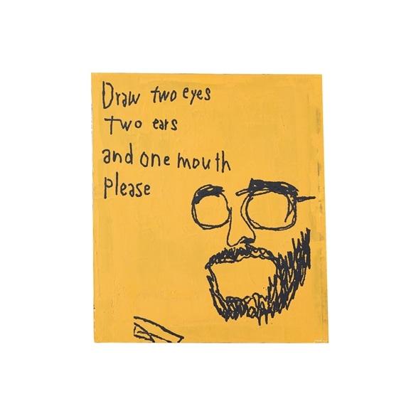 【写真】【一点物】舞木 和哉 「Draw two eyes, two ears, and one mouth. Please」