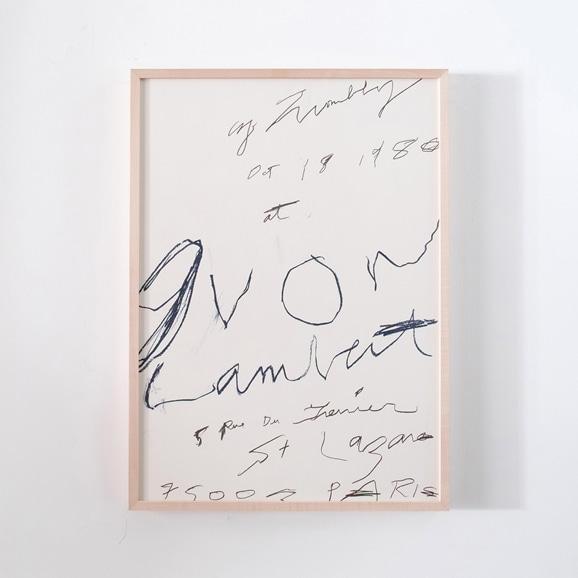 【写真】サイ・トゥオンブリー 「Galerie Yvon Lambert 1980」