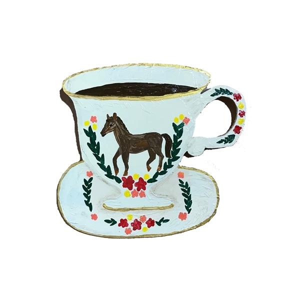 【写真】そで山 かほ子 「horse tea cup」