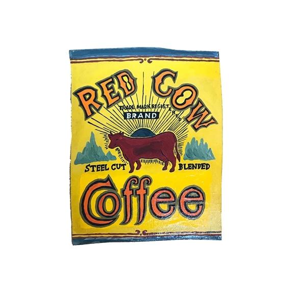 【写真】【一点物】そで山 かほ子 「RED COW COFFEE sign」