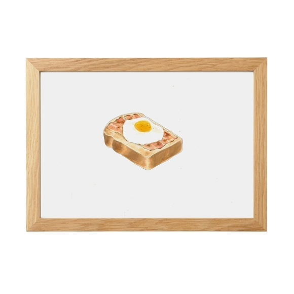 【写真】あーちん 「ベーコンエッグトースト」