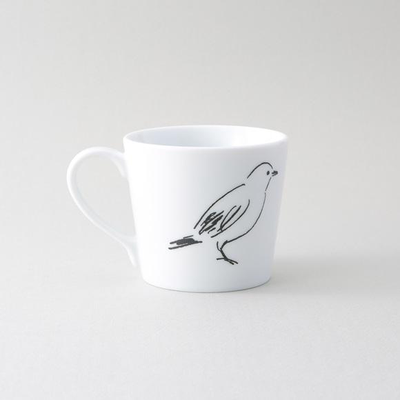 【写真】50★IDEE blanco y negro Bird マグカップ