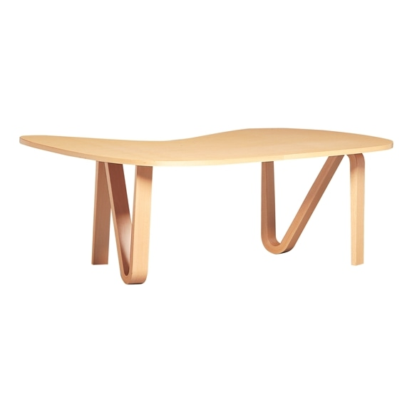 【写真】CURVED PLYWOOD TABLE Natural