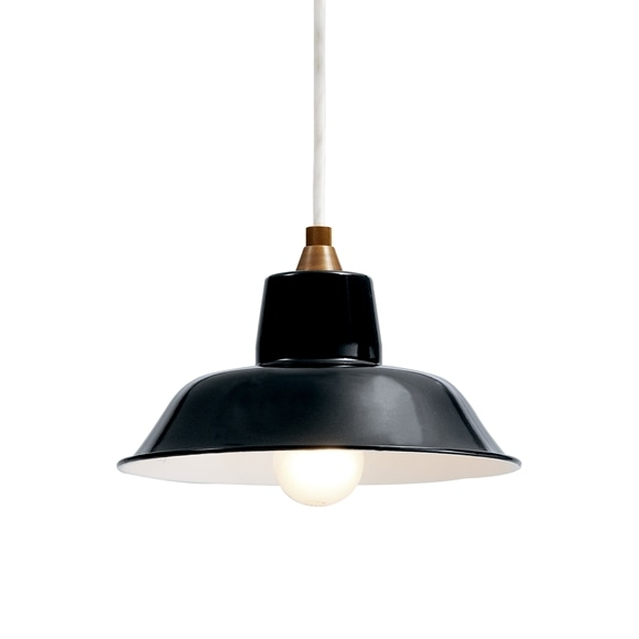【写真】PORCELAIN ENAMELED IRON LAMP Black