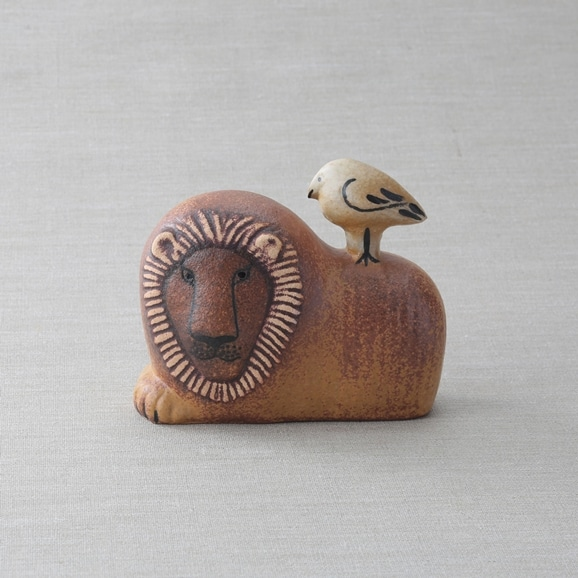 【写真】【定番品】Lisa Larson Lion with Bird