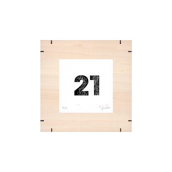 【写真】【一点物】Paper Parade Printing 「365days 21」