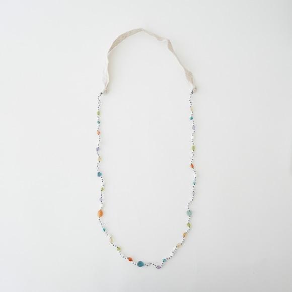 【写真】sai Necklace Shell,Carnelian,Turquoise & Fluorite