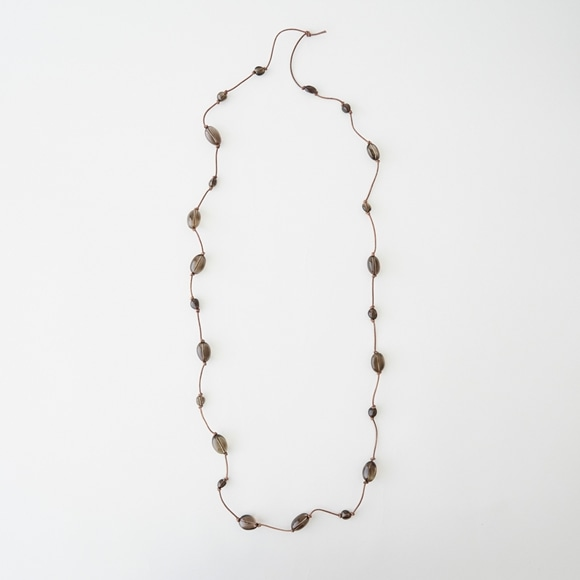 【写真】sai Long Necklace Smoky Quartz