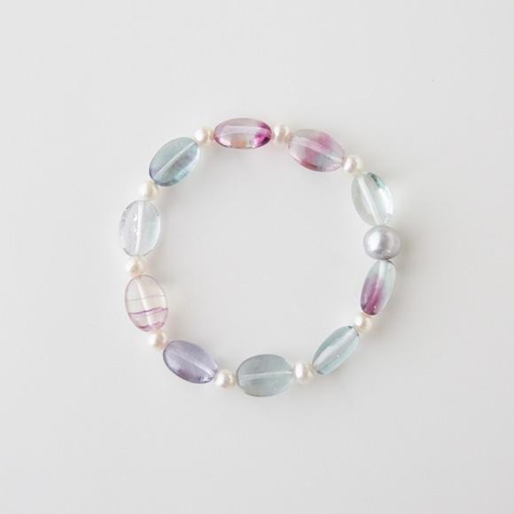 【写真】sai Bracelet Fluorite & Pearl