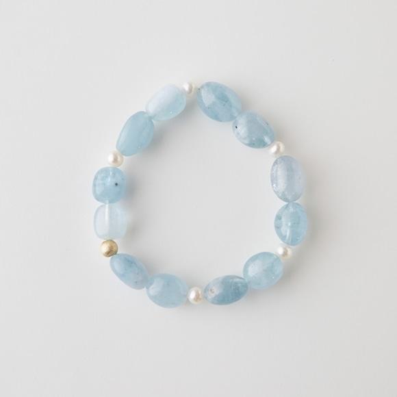 【写真】sai Bracelet Aquamarine & Pearl
