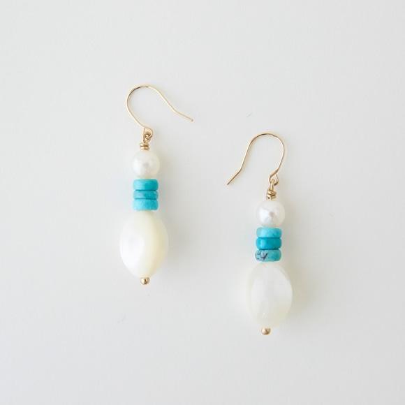 【写真】sai Pierce Shell,Turquoise & Pearl