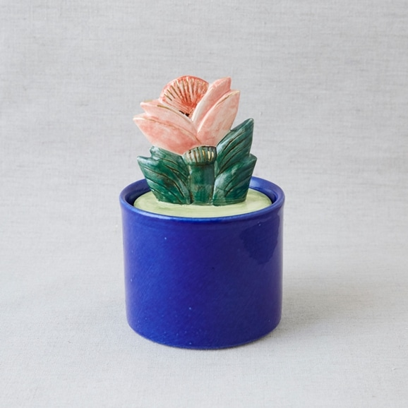 【写真】Lisa Larson Jar with Lid big flower