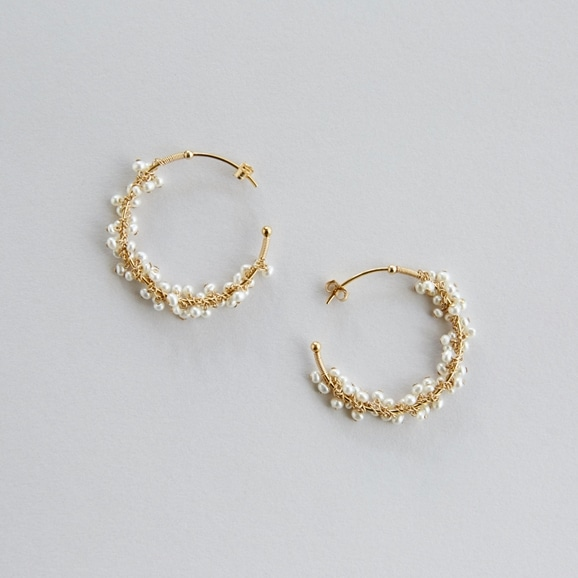 【写真】asumi bijoux shirotsumekusa mini pierce