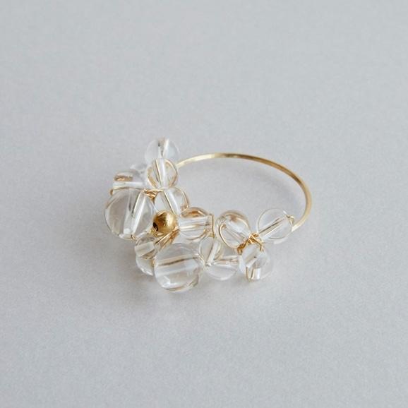 【写真】asumi bijoux asatsuyu ring crystal M
