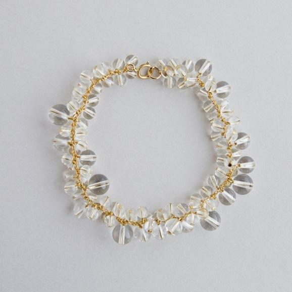 【写真】asumi bijoux asatsuyu bracelet crystal