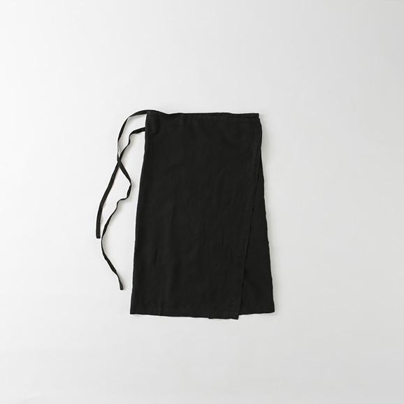 【写真】POOL いろいろの服 巻エプロン ブラック