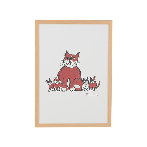 【写真】柚木 沙弥郎 「親猫子猫」