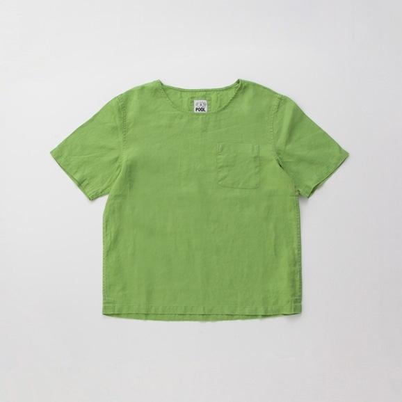 【写真】POOL いろいろの服 ポケットTシャツ ライムグリーン
