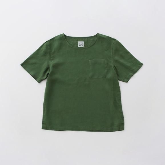【写真】POOL いろいろの服 ポケットTシャツ アイビーグリーン