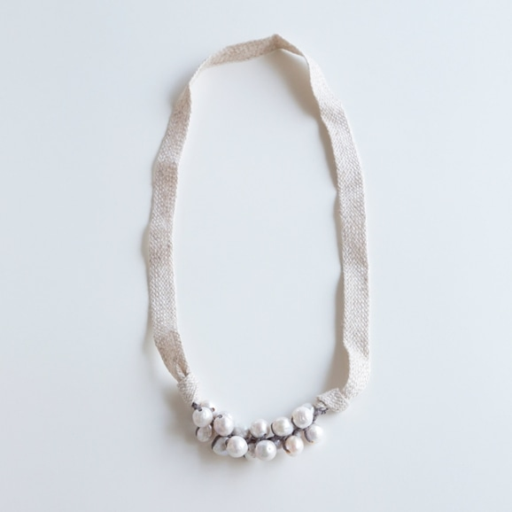 【写真】sai Cotton Necklace Pearl A