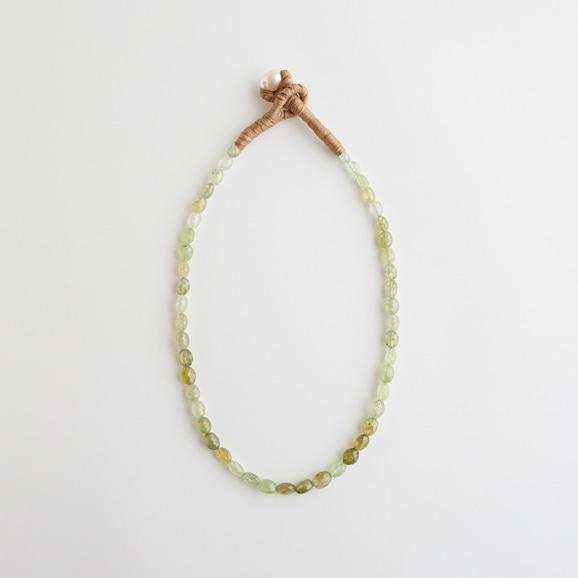 【写真】sai Necklace Green Garnet