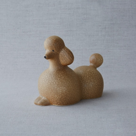 【写真】【定番品】Lisa Larson Poodle Brown