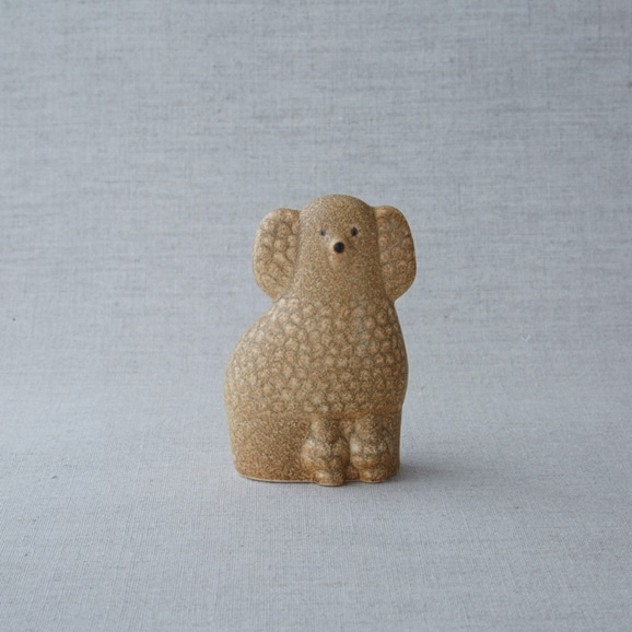 【写真】【定番品】Lisa Larson Poodle Brown Mini Left