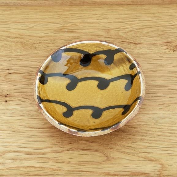 【写真】山根窯 スリップウェア 丸小皿