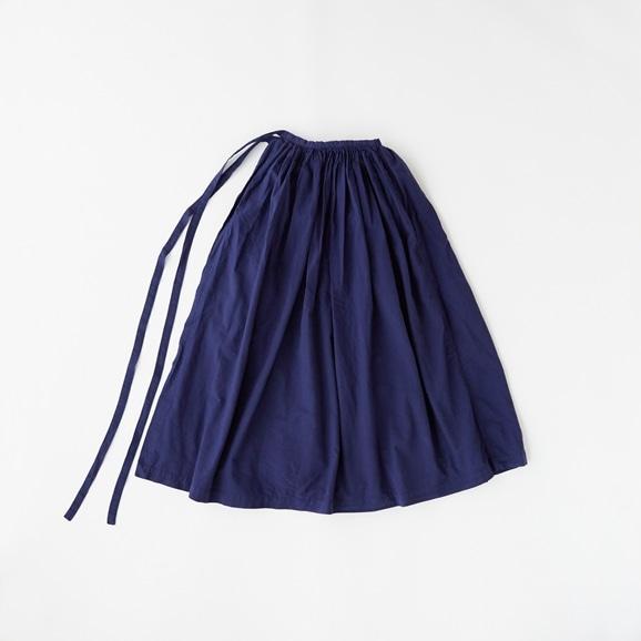 【写真】POOL いろいろの服 巻きギャザーエプロン コスモスブルー
