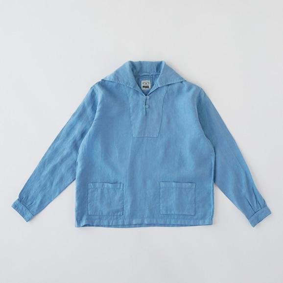 【写真】POOL いろいろの服 セーラーシャツ スカイブルー