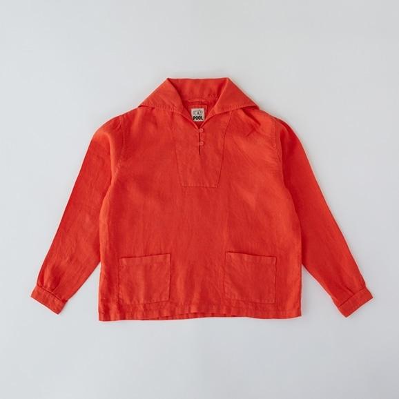 【写真】POOL いろいろの服 セーラーシャツ ヴィヴィッドレッド