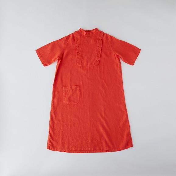 【写真】POOL いろいろの服 ボタンワンピース ヴィヴィッドレッド
