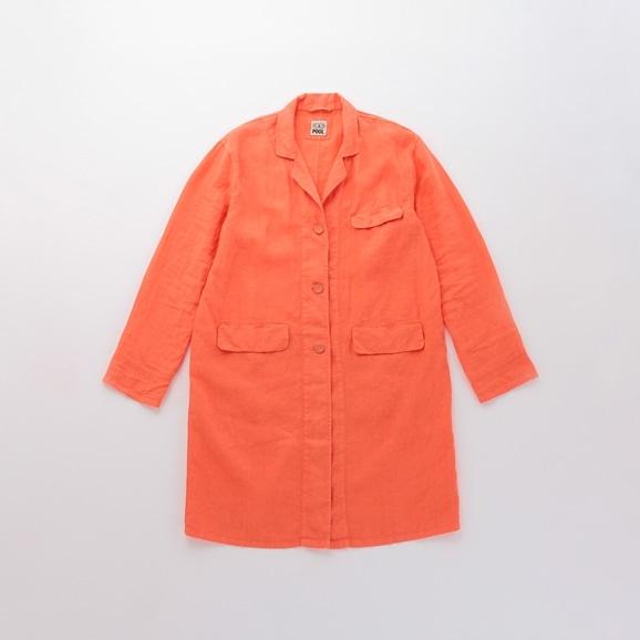 【写真】POOL いろいろの服 アトリエコート コーラルオレンジ