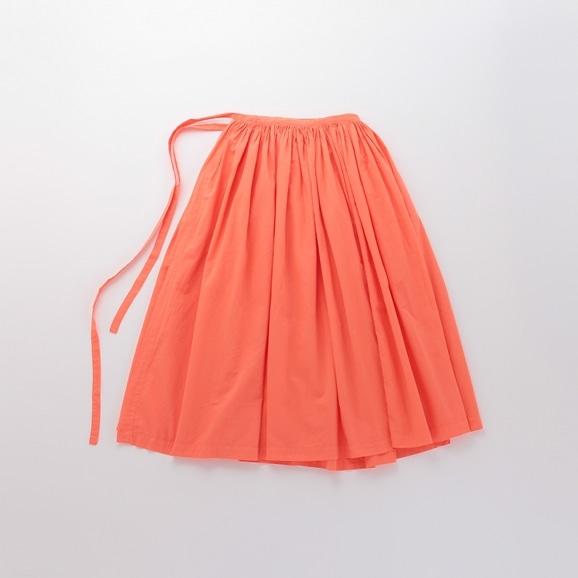 【写真】POOL いろいろの服 巻きギャザーエプロン コーラルオレンジ