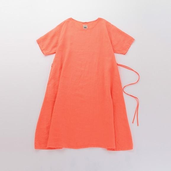 【写真】POOL いろいろの服 ワンピース コーラルオレンジ