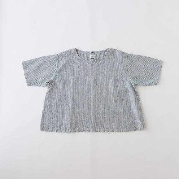 【写真】POOL いろいろの服 ブラウス ストライプ ブルー