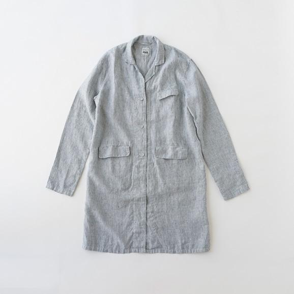 【写真】POOL いろいろの服 アトリエコート ストライプ ブルー