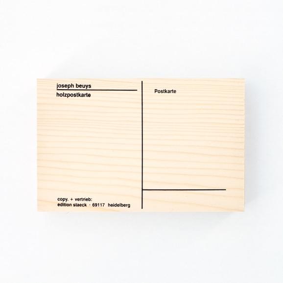 【写真】ヨーゼフ・ボイス 「Holzpostkarte」