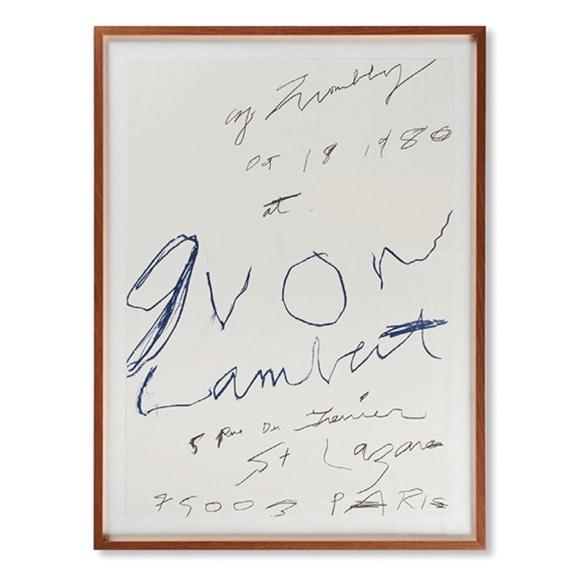 【写真】サイ・トゥオンブリー 「Yvon Lambert Print 1980」