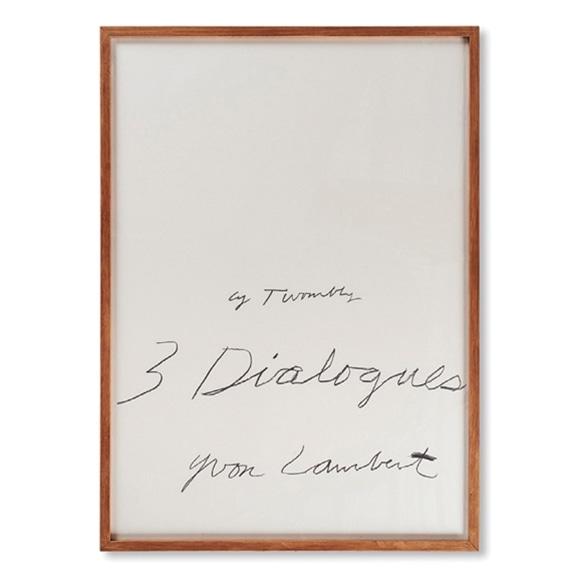 【写真】サイ・トゥオンブリー 「Yvon Lambert 3 Dialogues 1977 (1)」
