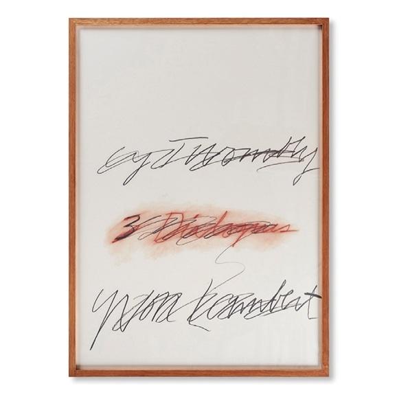 【写真】サイ・トゥオンブリー 「Yvon Lambert 3 Dialogues 1977 (2)」
