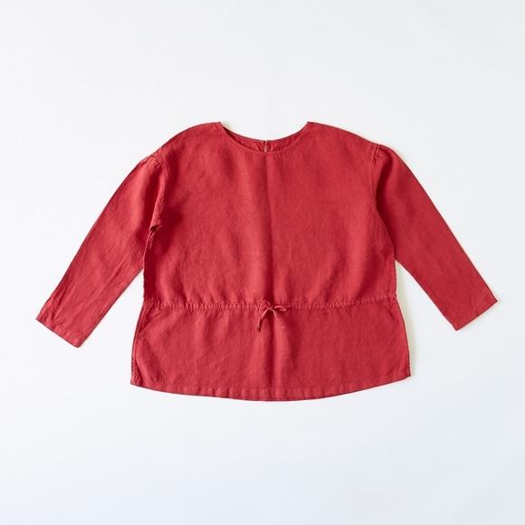 【写真】POOL いろいろの服 ギャザーブラウス レッド