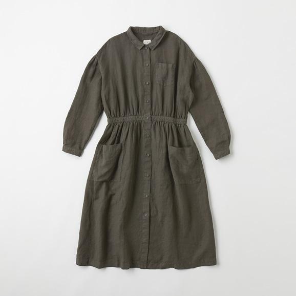 【写真】POOL いろいろの服 アトリエシャツワンピース チャコール