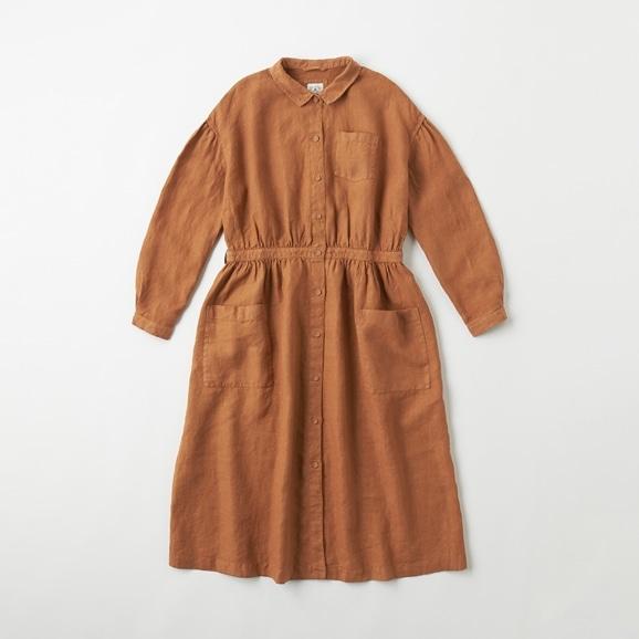 【写真】POOL いろいろの服 アトリエシャツワンピース ブラウン