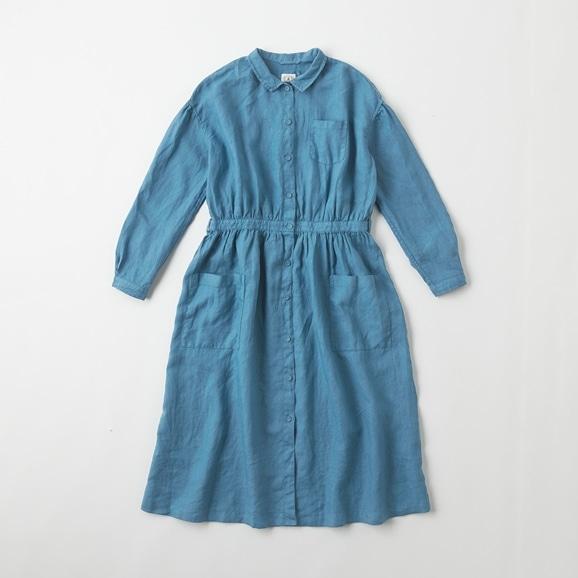 【写真】POOL いろいろの服 アトリエシャツワンピース ブルーグレー