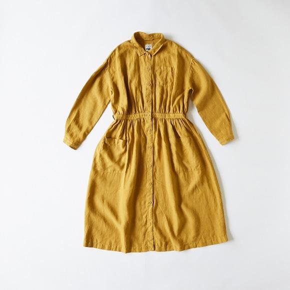 【写真】POOL いろいろの服 アトリエシャツワンピース マスタード