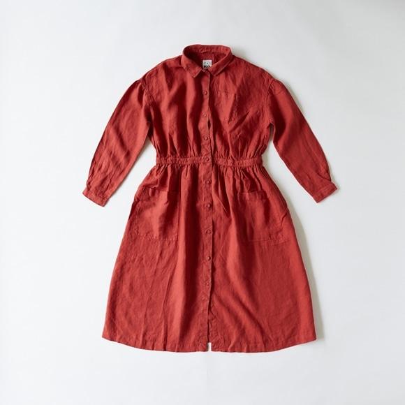 【写真】POOL いろいろの服 アトリエシャツワンピース レッド