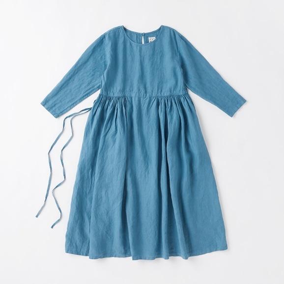 【写真】POOL いろいろの服 ギャザーワンピース ブルーグレー