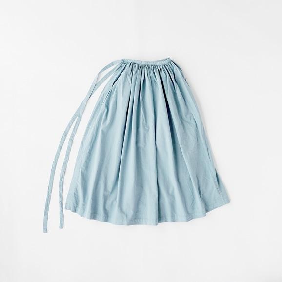 【写真】【旧仕様】POOL いろいろの服 巻きギャザーエプロン ライトブルー